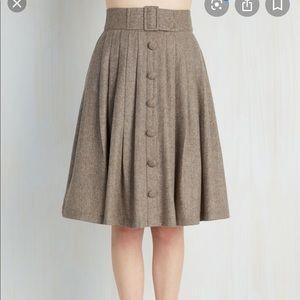 Modcloth Plus Size Wool Blend Pleated Skirt sz 2x